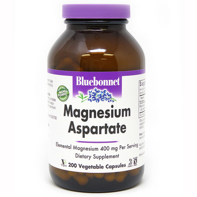 Bluebonnet Magnesium Asparate - 400 mg - Vegetable Capsules - Puro Estado Fisico