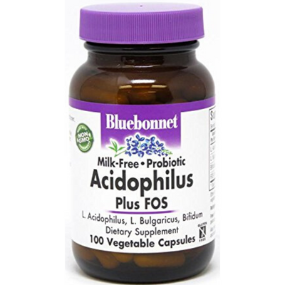 Bluebonnet Milk Free Probiotic Acidophilus - Vegetable Capsules - Puro Estado Fisico