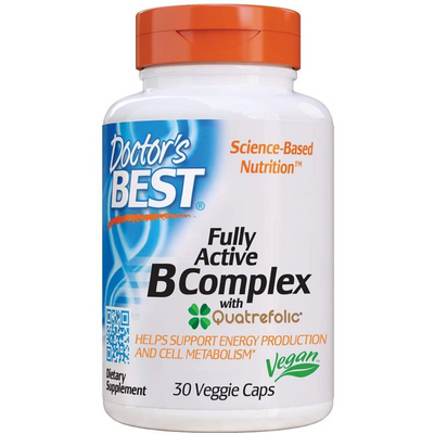 Doctor's Best Fully Active B Complex - 30 Cápsulas Vegetales - Puro Estado Fisico