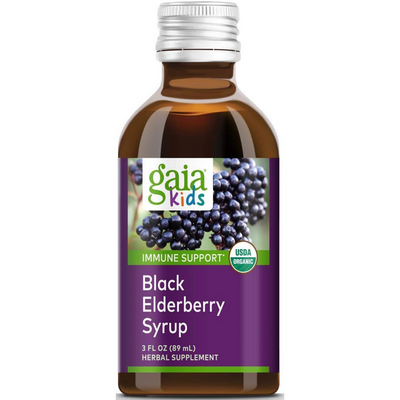 Gaia Herbs Kids Black Elderberry Syrup - 89 ml - Puro Estado Fisico