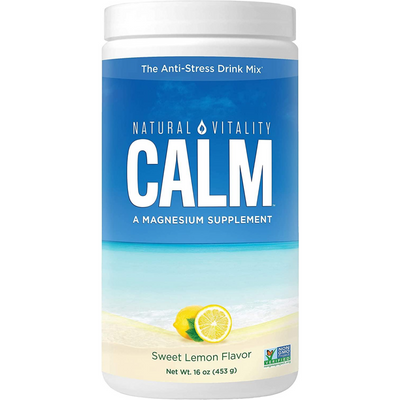 Natural Vitality Calm a Magnesium Supplement - 453 g - Limon Dulce - Puro Estado Fisico