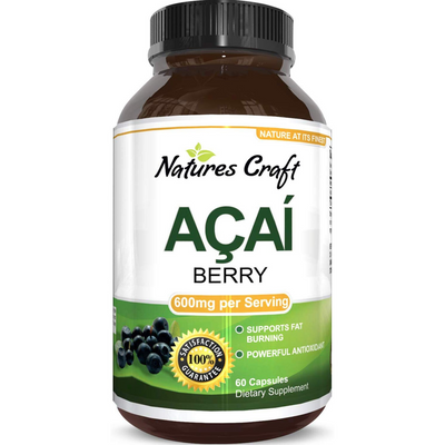 Natures Craft Acai Berry - 60 Capsules - Puro Estado Fisico
