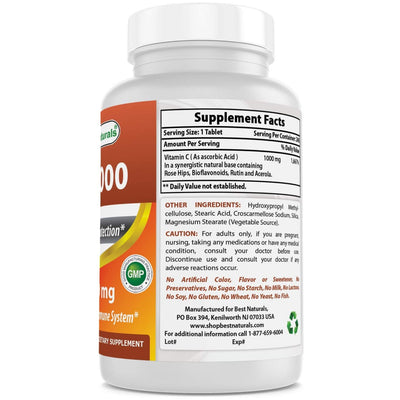 Vitamina C 1000 mg de Best Naturals 240 Tabletas