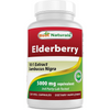 Best Naturals Elderberry 5000mg - 120 Cápsulas De Origen Vegetal - Puro Estado Fisico