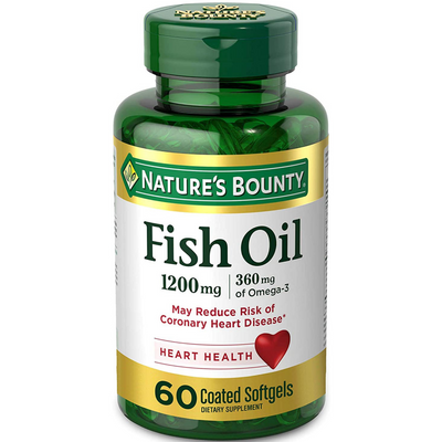 Nature's Bounty Fish Oil 1200 mg - 60 Cápsulas Blandas - Puro Estado Fisico