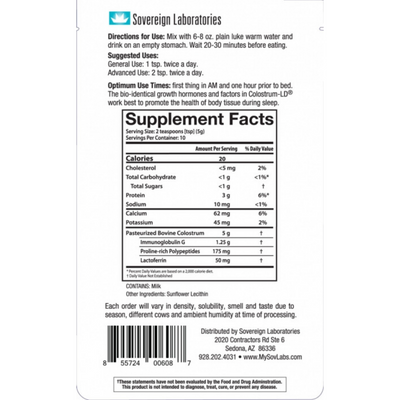 Sovereign Laboratories Colostrum LD Powder - Puro Estado Fisico