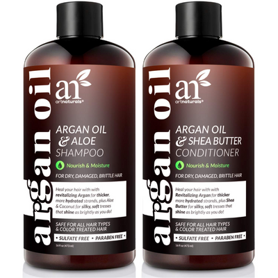 ArtNaturals Argan Oil Shampoo & Conditioner Duo - 473 ml - Puro Estado Fisico