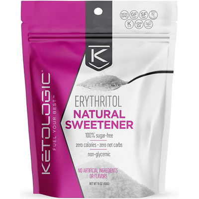 KetoLogic Erythritol Natural Sweetener - 455 g - Puro Estado Fisico