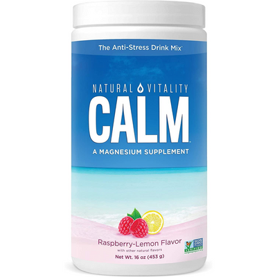 Natural Vitality Calm a Magnesium Supplement - 453 g - Frambuesa Limon - Puro Estado Fisico