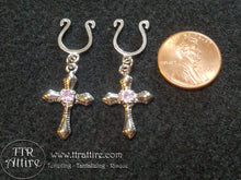 Jeweled Crosses - Black, Pink, Diamond