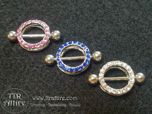 Jewel Encrusted Circles - Piercing nipple shield