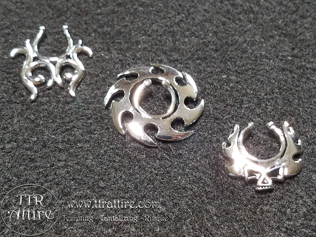 Motorcycle Mama Non Piercing Nipple Shields - Silver