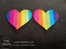 Heart Rainbow Patterned - Sun burn protectors / Nipple Shields / Pasties