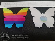 Butterflies Rainbow Patterned - Sun burn protectors / Nipple Shields / Pasties