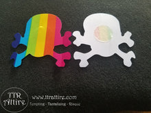 Skull & Crossbones Rainbow Patterned - Sun burn protectors / Nipple Shields / Pasties