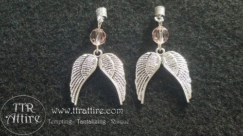 Angel Wing Interchangeable Charm Nipple Ring Set