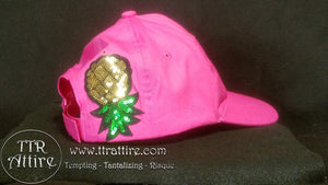 Upside Down Pineapple Baseball Cap - Black Gray Pink Red White Blue