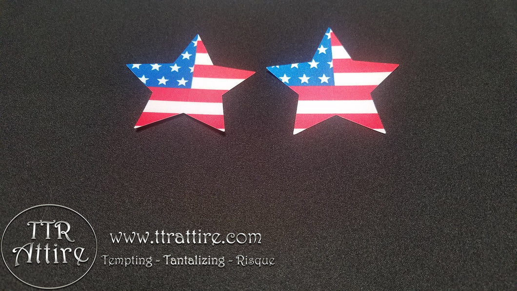 Patriotic American Flag Star Pasties