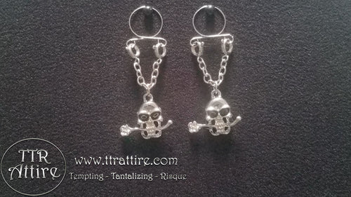 Skulls and Roses Non Piercing Adjustable Nipple Ring