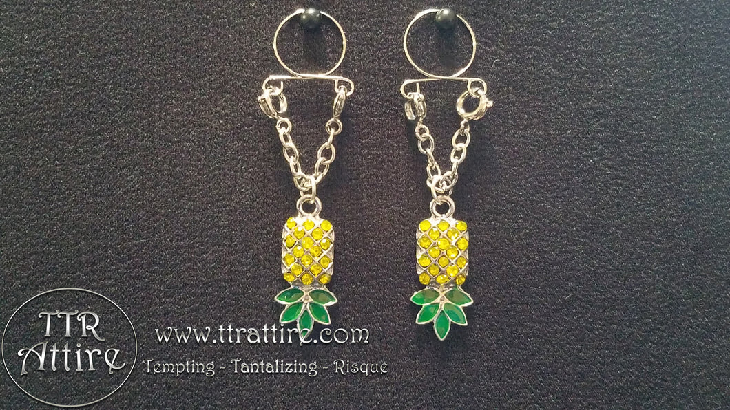 Upside Down Pineapple Non Piercing Adjustable Nipple Ring