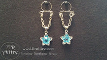 Blue Gem Stars Non Piercing Adjustable Nipple Ring