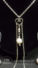 Shiny Heart Single Chain Necklace and Nipple Loop Set Charm