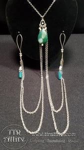Tears of Jade Double Chain Necklace
