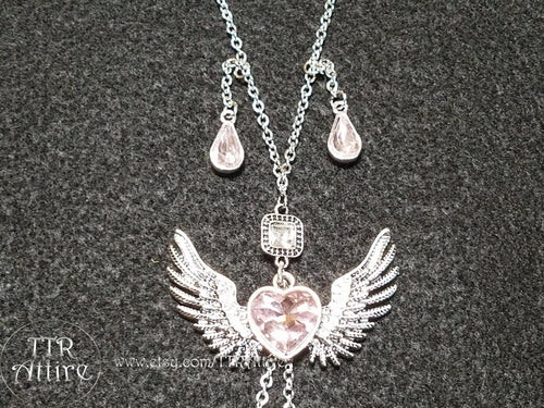 Angel Hearts - Non Piercing Nipple Ring Necklace Set