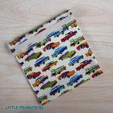 Food Bag/Wrap - Retro Cars Cream