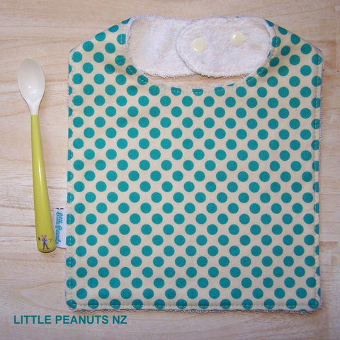 Feeding Bib - Aqua Dot