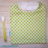 Feeding Bib - Lime Dot