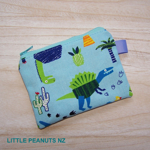Coin/Card purse - Dino Blue