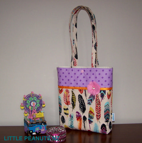 Carry Bag - Feather Dot
