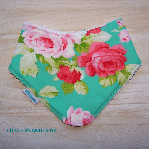 Dribble Bib - Aqua Rose