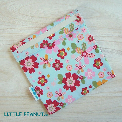 Sandwich Bag - Floral Blue