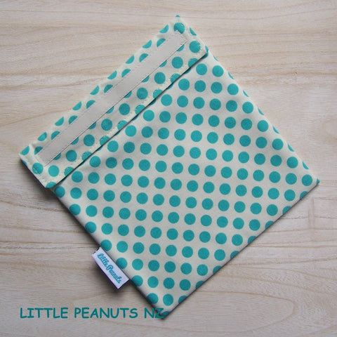 Food Bag/Wrap - Aqua Dot