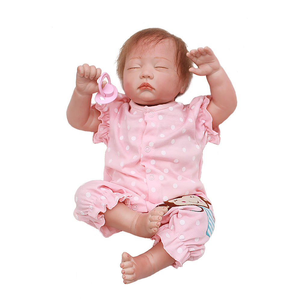 Reborn Baby Doll Lifelike Baby Silicone Doll(Pink princess)