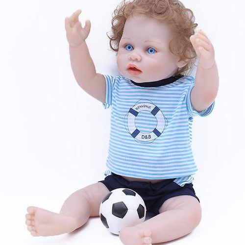 Reborn Baby Doll Lifelike Baby Silicone Boy Doll(Happy Holiday)