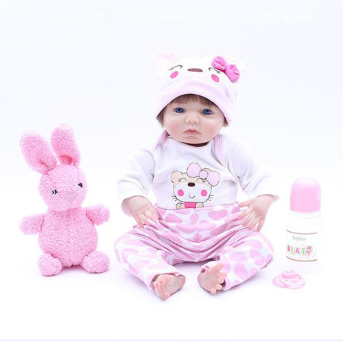 Reborn Baby Doll Lifelike Baby Silicone Doll(Little Alex)