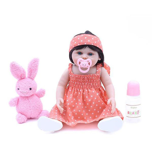 Reborn Baby Doll Lifelike Baby Silicone Girl Doll(shopping girl on Sunday)