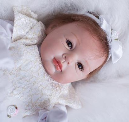 Reborn Baby Doll Lifelike Baby Silicone Doll(Little princess dancing ballet)
