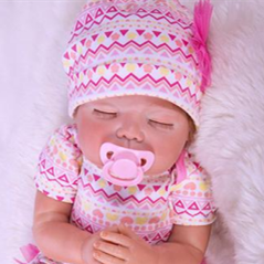 Reborn Baby Doll Lifelike Baby Silicone Doll(Enjoy Sunday)