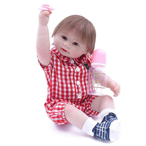 Reborn Baby Doll Lifelike Baby Silicone Girl Doll(Ladies love me)