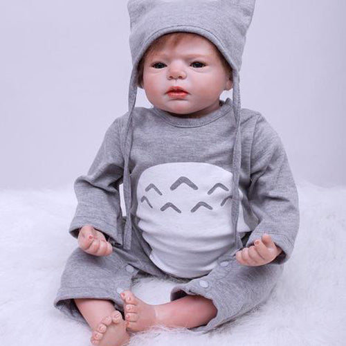Reborn Baby Doll Lifelike Baby Silicone Doll(Wise Totoro)