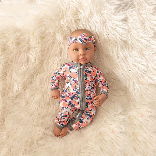 Newborn Baby Doll Silicone 18 Inch Soft Body Colorful Clothes