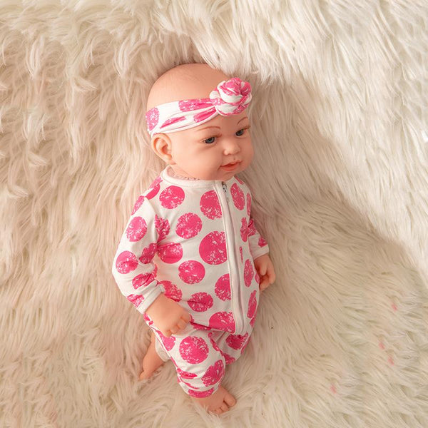 Newborn Baby Doll Silicone 18 Inch Soft Body Pink Clothes