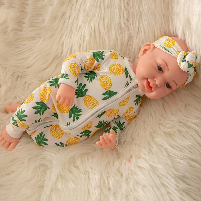 Newborn Baby Doll Silicone 18 Inch Soft Body Pineapple Clothes