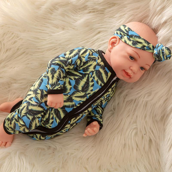 Newborn Baby Doll Silicone 18 Inch Soft Body Mix Color Clothes