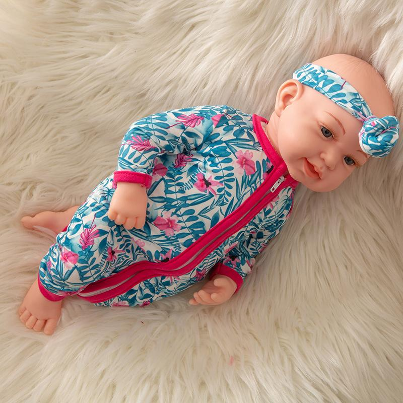 Newborn Baby Doll Silicone 18 Inch Soft Body Blue and Pink Clothes