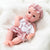 Newborn Baby Doll Silicone 10 Inch Soft Body Pink and White Clothes